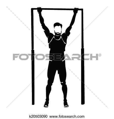 Clipart of man doing pull.