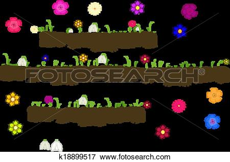 Clip Art of Vector with ground with roots,growi k18899517.