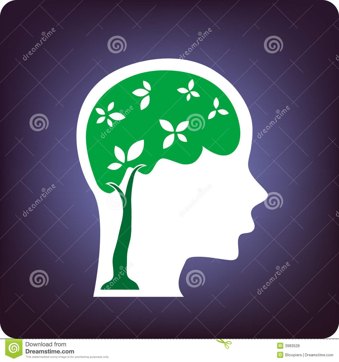Growing Brain Royalty Free Stock Photos.