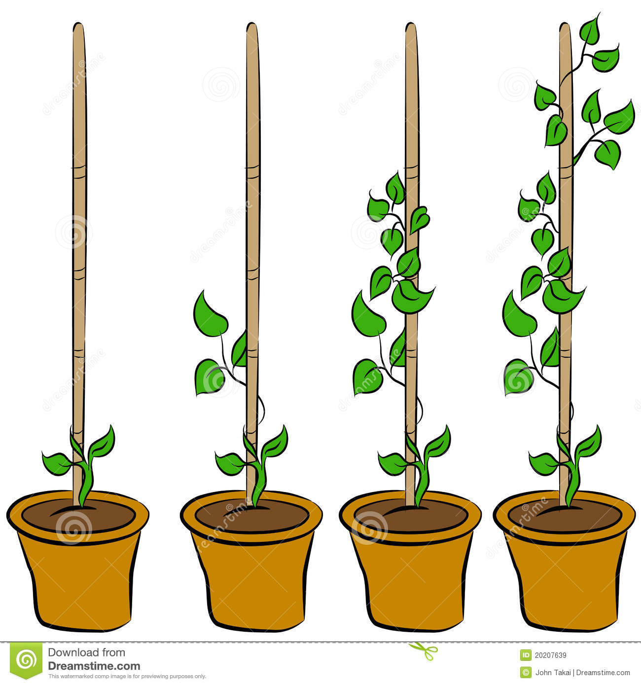 Plant growing clipart.