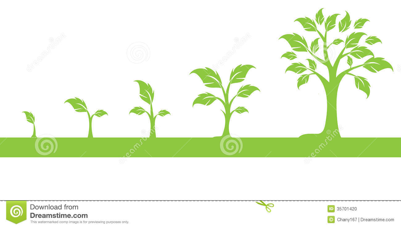 Growing Tree Clipart.
