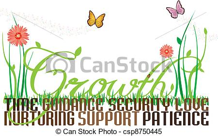Stock Illustrations of Growing.