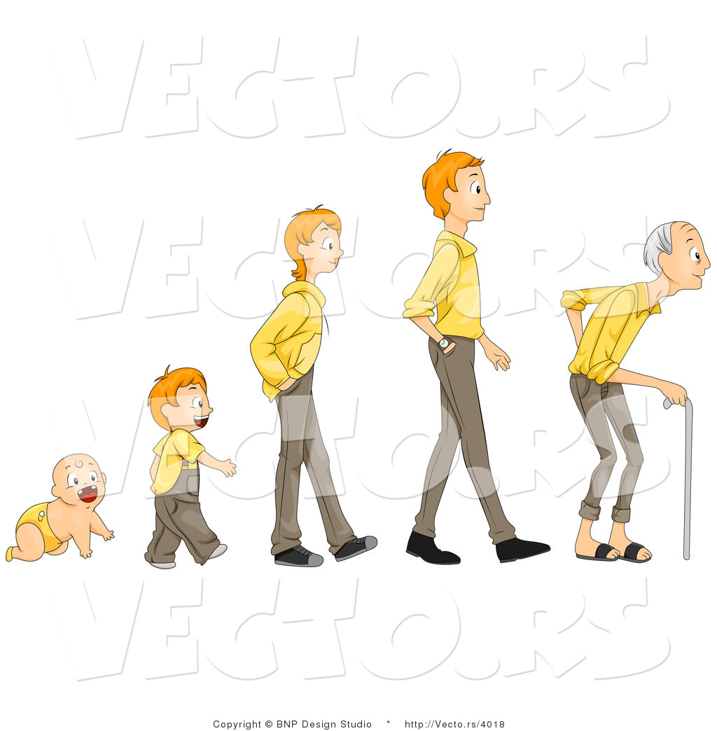 Growing old clipart.