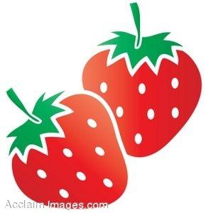 Strawberries Clipart.