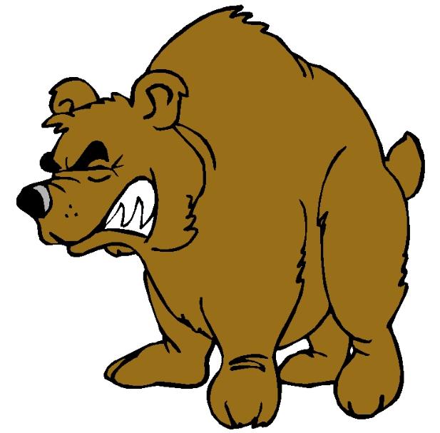 Growling Bear Clip Art free image.