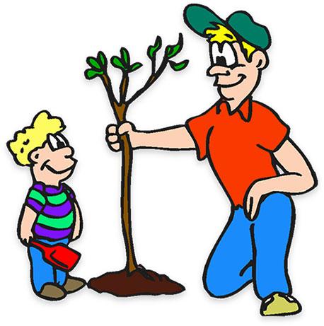 Tree planting clipart free.