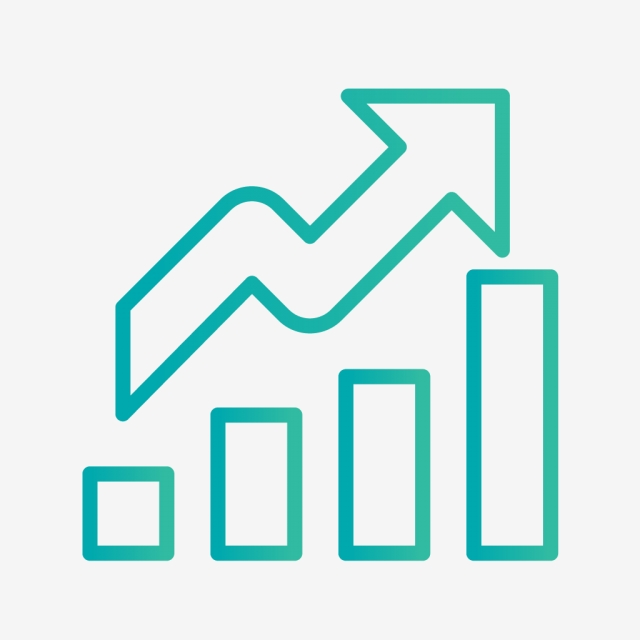 Vector Growth Icon, Growth, Profit, Chart PNG and Vector with.