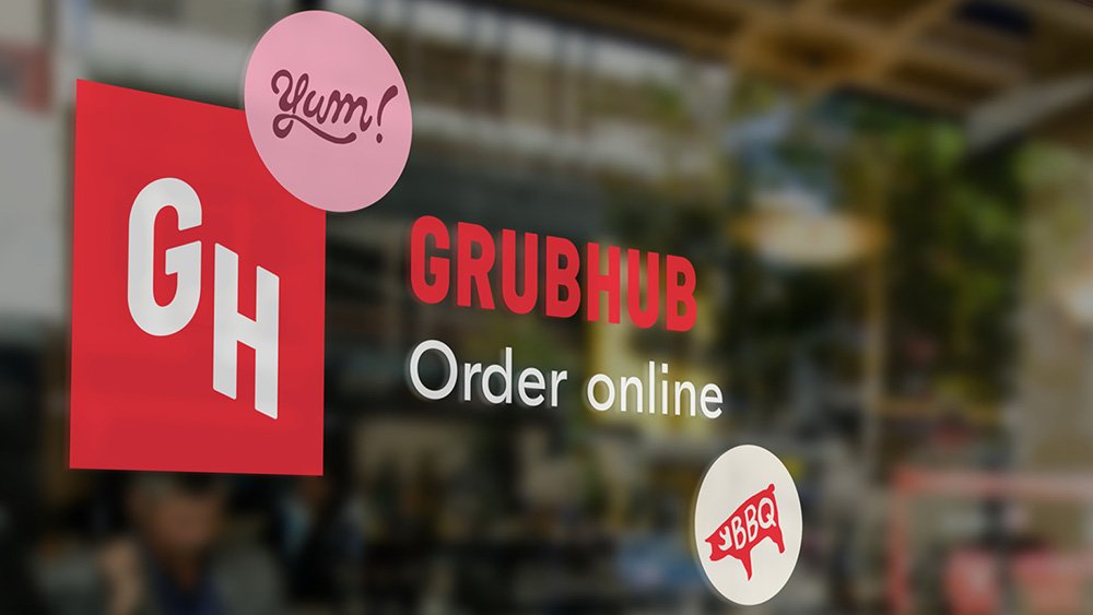 Brand New: New Logo and Identity for Grubhub by Wolff Olins.