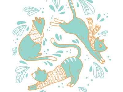Cozy Cats by Bronwyn Gruet.