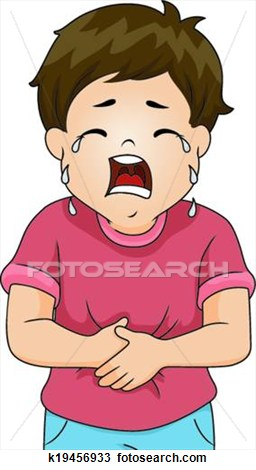 Stomach growling clipart.
