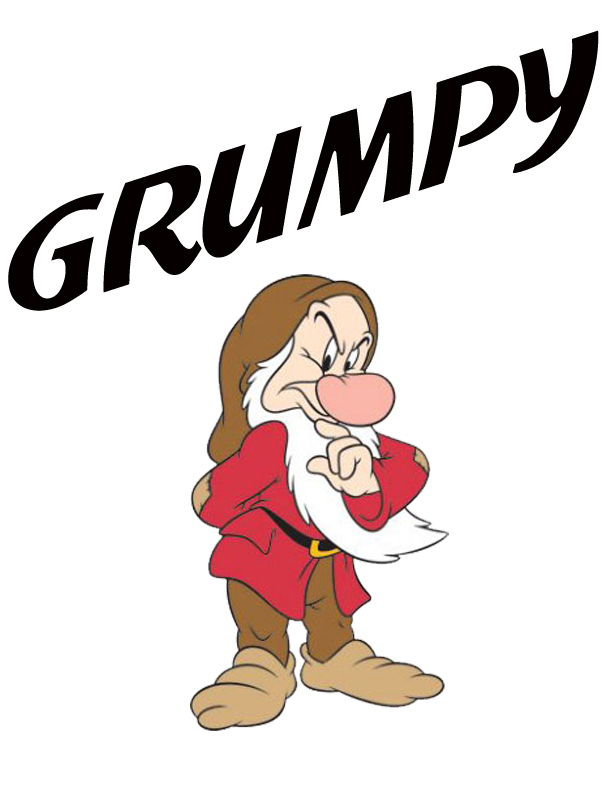 Grumpy Clip Art.