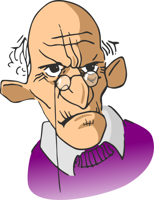 Man grumpy clipart.
