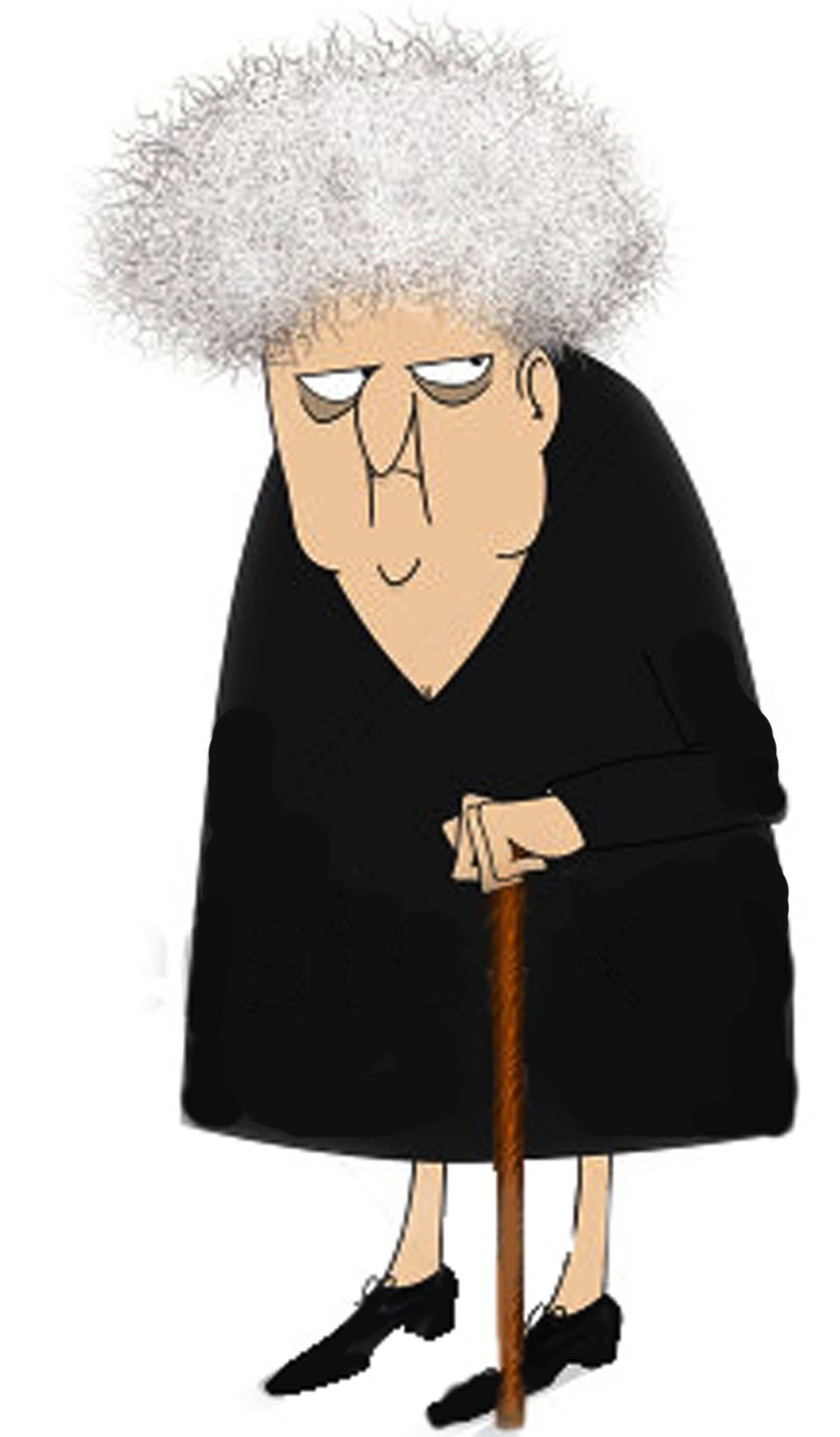 Cranky Old Lady Clipart.