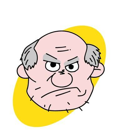 234 Grumpy Old Man Stock Vector Illustration And Royalty Free Grumpy.
