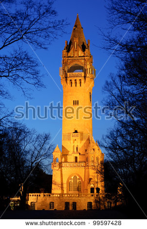 Grunewald Tower In Berlin At Night.