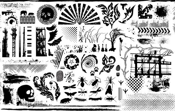 Grunge Clip Art Vector.