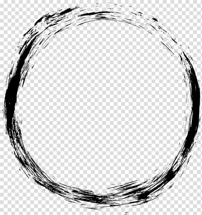 Round black illustration, Computer Icons Grunge , circle.
