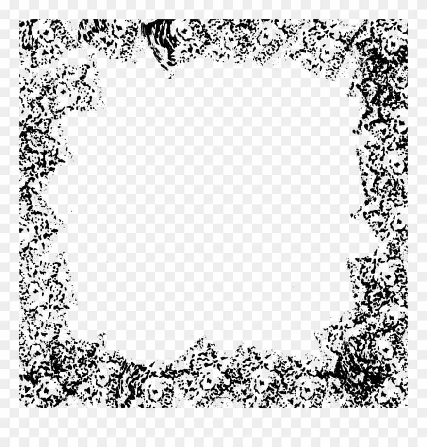10 Square Grunge Frame Png Transparent Vol.
