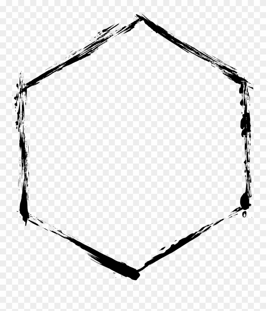 Freetoedit Remixit Frame Grunge Pattern Shape Hexagon.