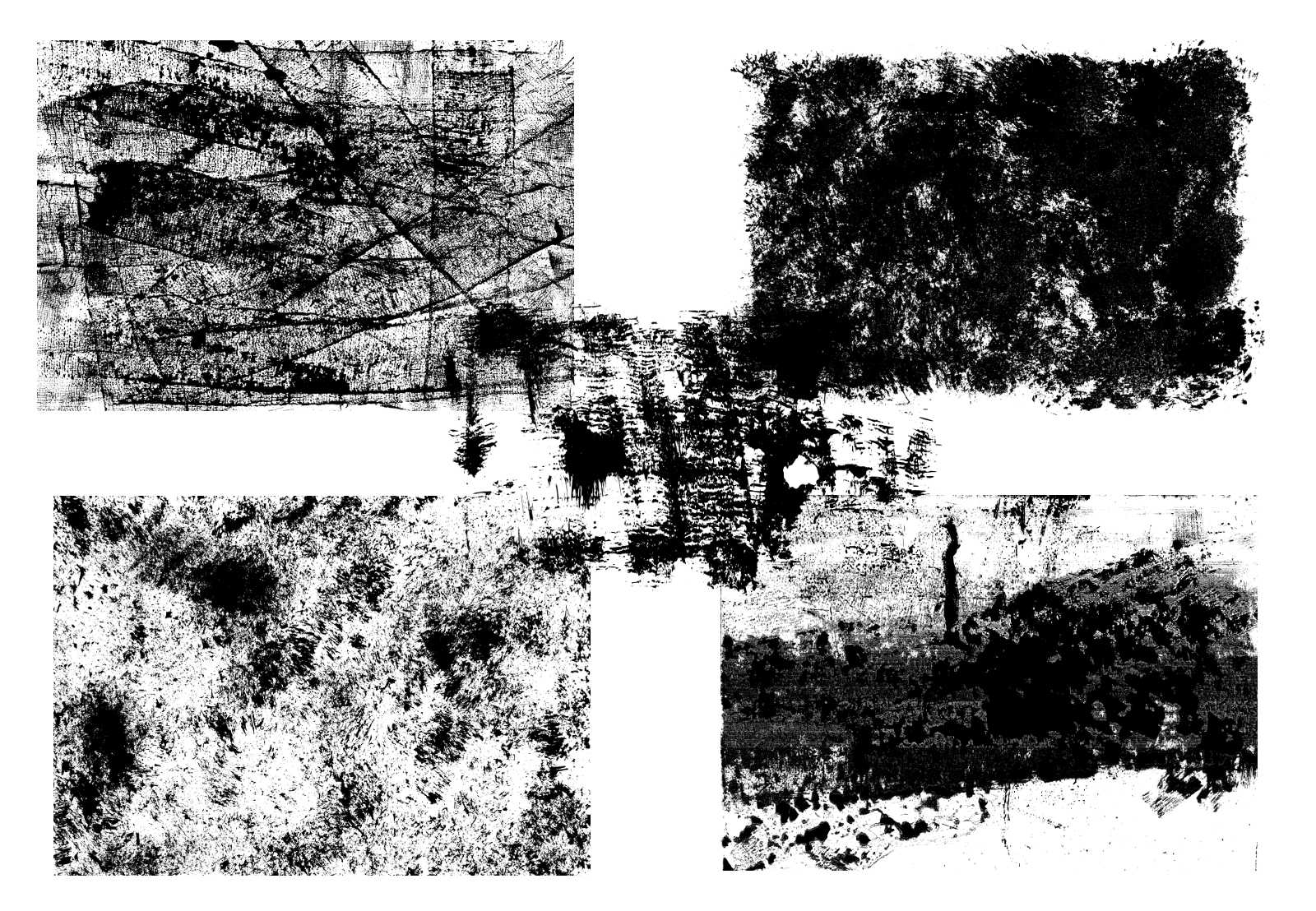 5 Grunge Overlay Textures (PNG Transparent).