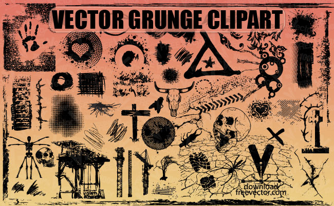 Free Vector Grunge Clipart Free Vector / 4Vector.