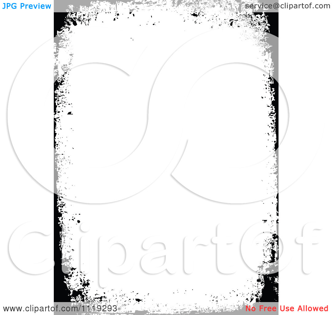 Clipart Of A Grungy Distressed Black Border With Copyspace.