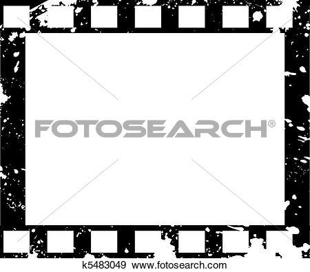 Clip Art of Old film frame in grunge style k5483049.