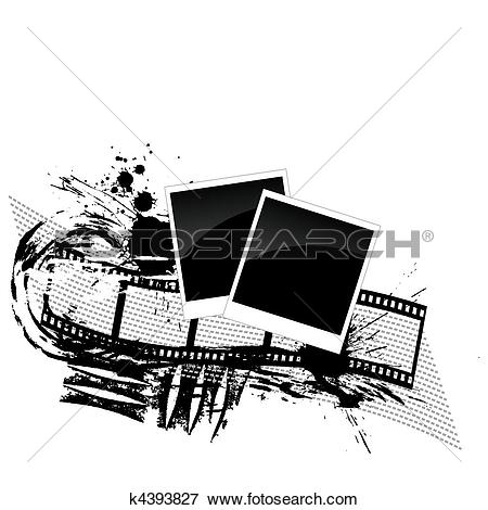 Clip Art of photos and filmstrip.
