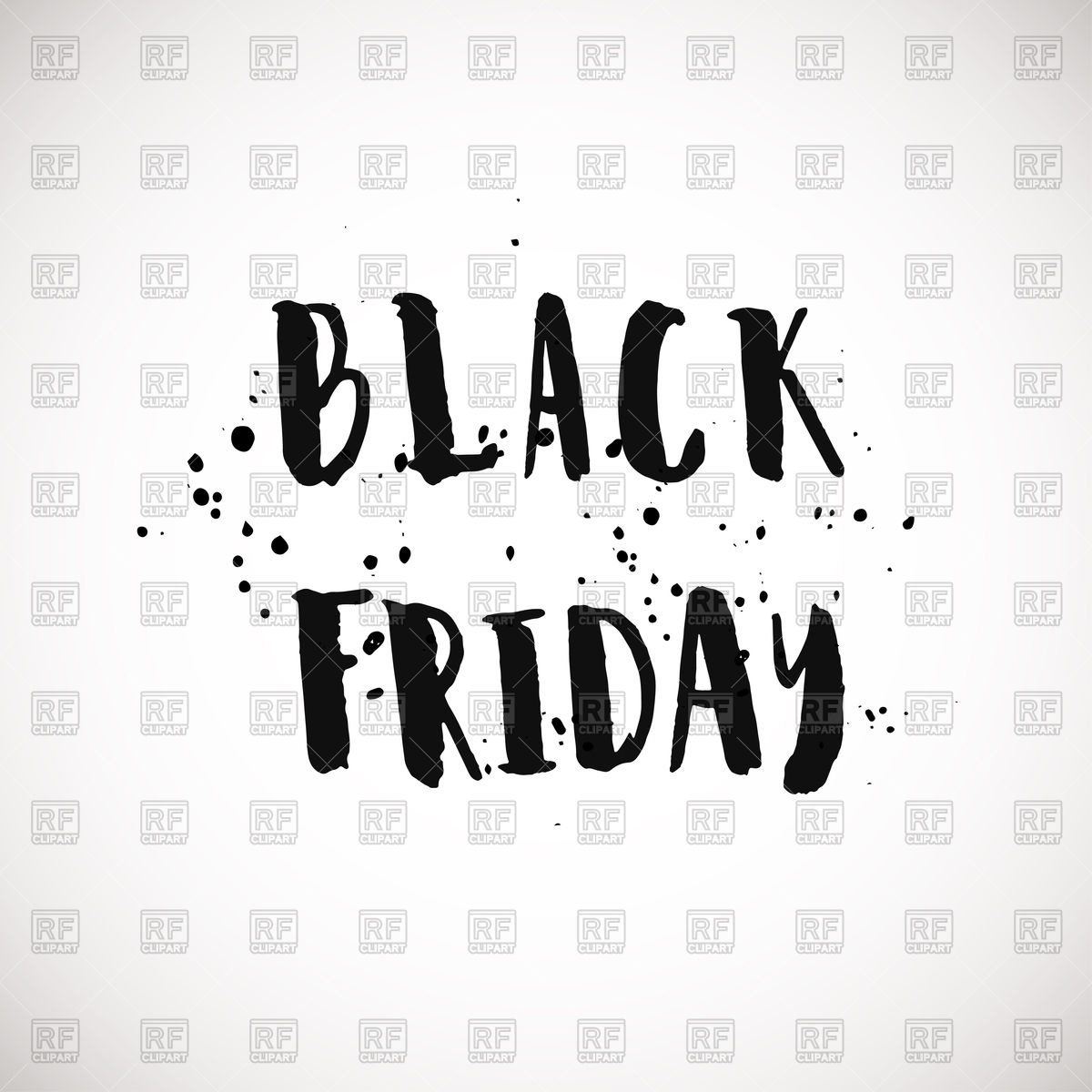 Black friday grunge style ink painted phrase Vector Image #95470.