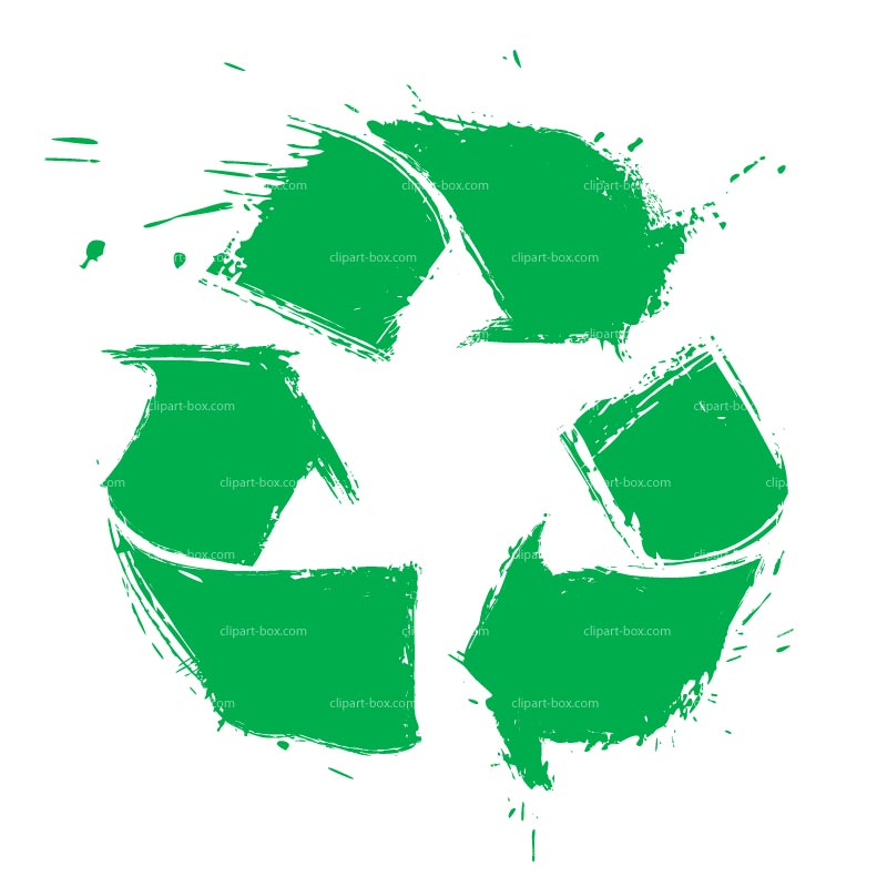CLIPART RECYCLE SYMBOL GRUNGE STYLE.