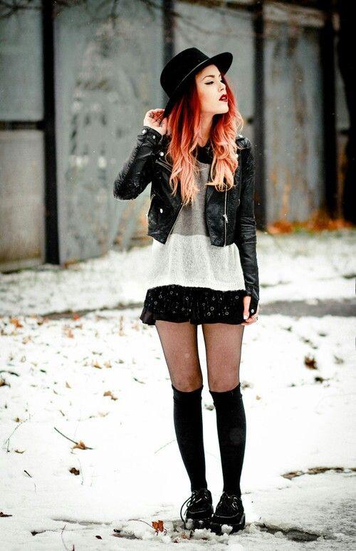 Grunge Fashion Girl Clip Art.