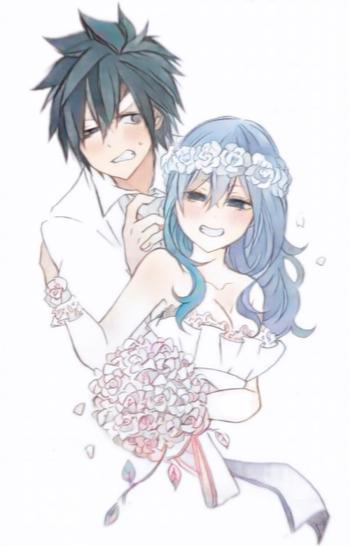 Image de gray, gruvia, and fairy tail.
