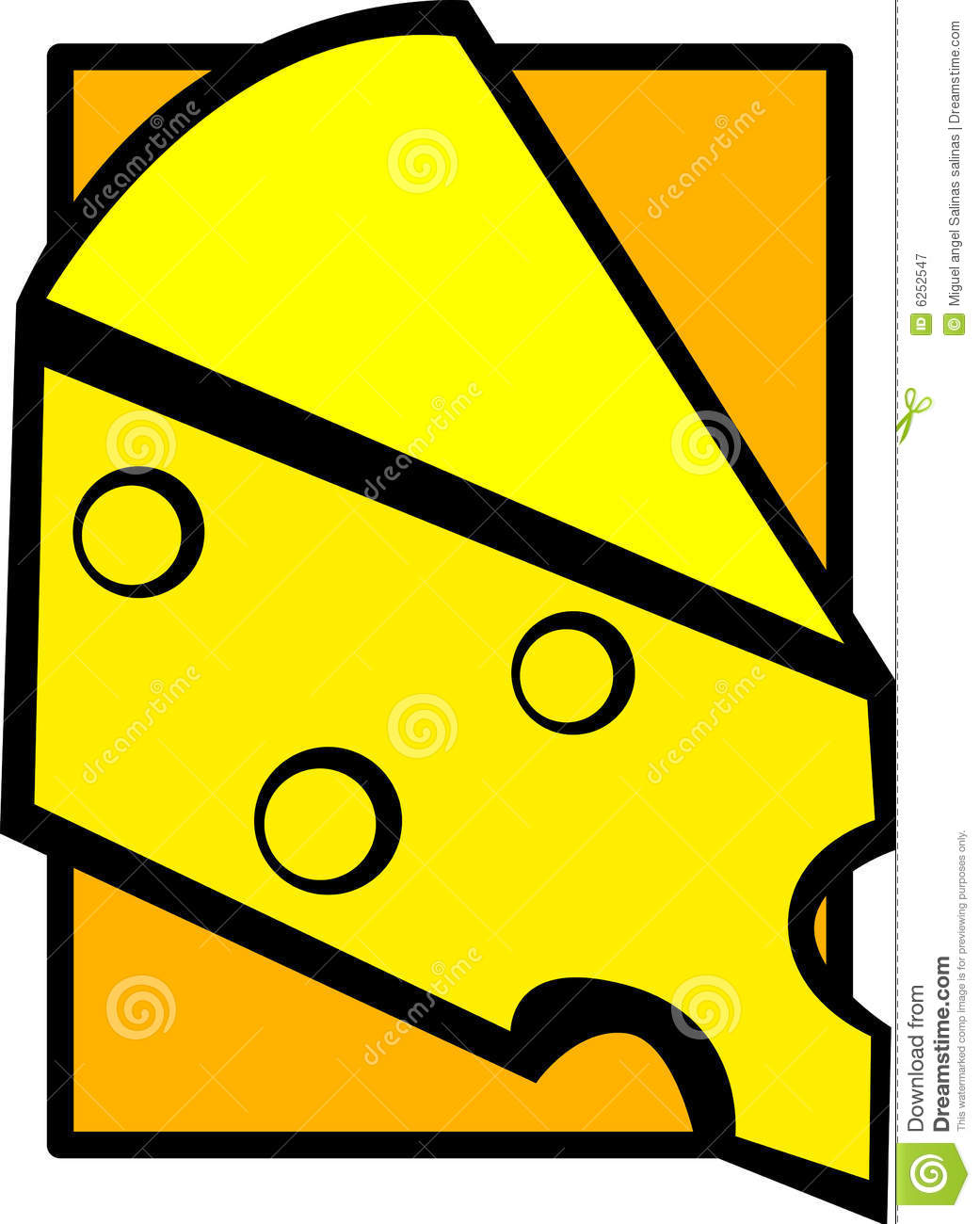 Swiss Or Gruyere Cheese Slice Vector Illustration Royalty Free.