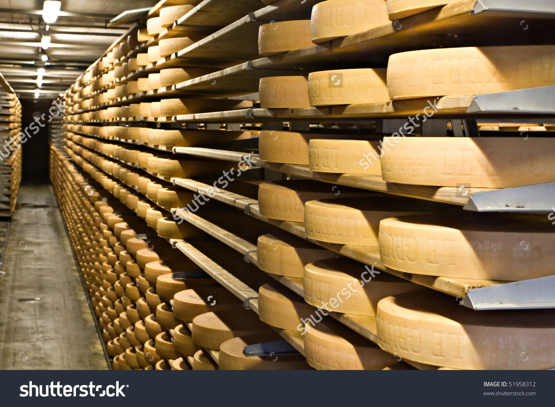 Cheese Storehouse Gruyere Switzerland Stock Photo 51958312.