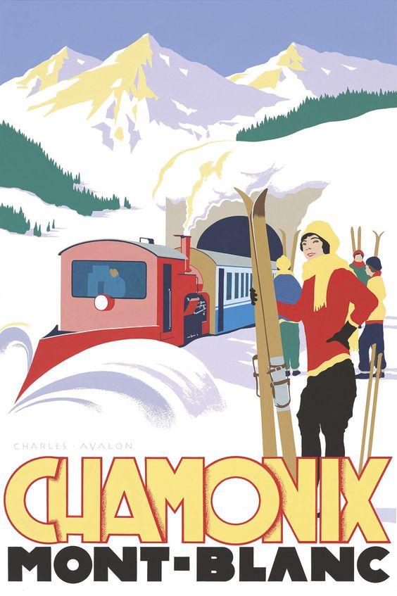 Chamonix: Ski Train'.