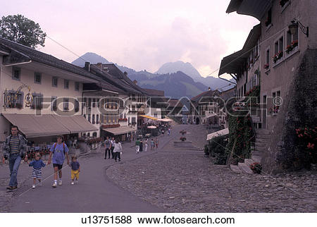 Pictures of Switzerland, Gruyeres, Fribourg, Scenic village of.