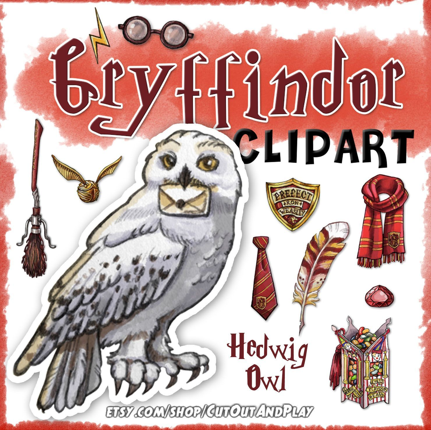 Gryffindor clipart, Harry Potter clipart, Harry potter party.