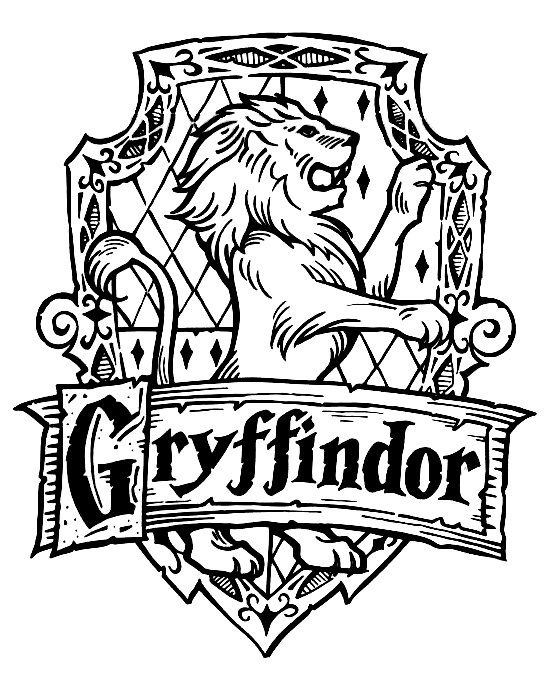 Collection of Gryffindor clipart.