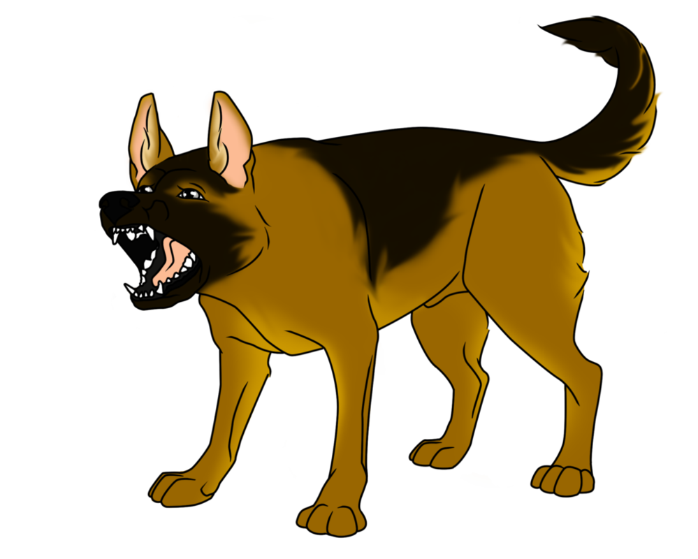 Clipart of german shepherds.