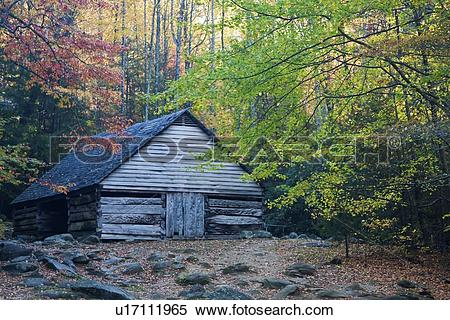 Stock Image of great smoky mountain national park gsmnp tn park.