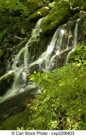 Stock Photos of Waterfalls, Tremont, GSMNP, TN.