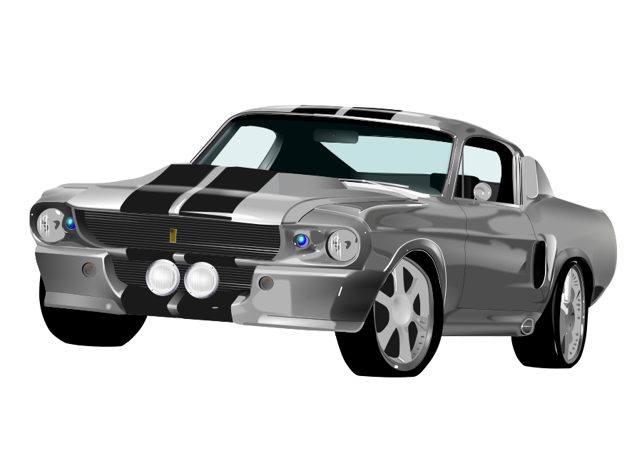 Mustang 500 gt Clipart, vector clip art online, royalty free.