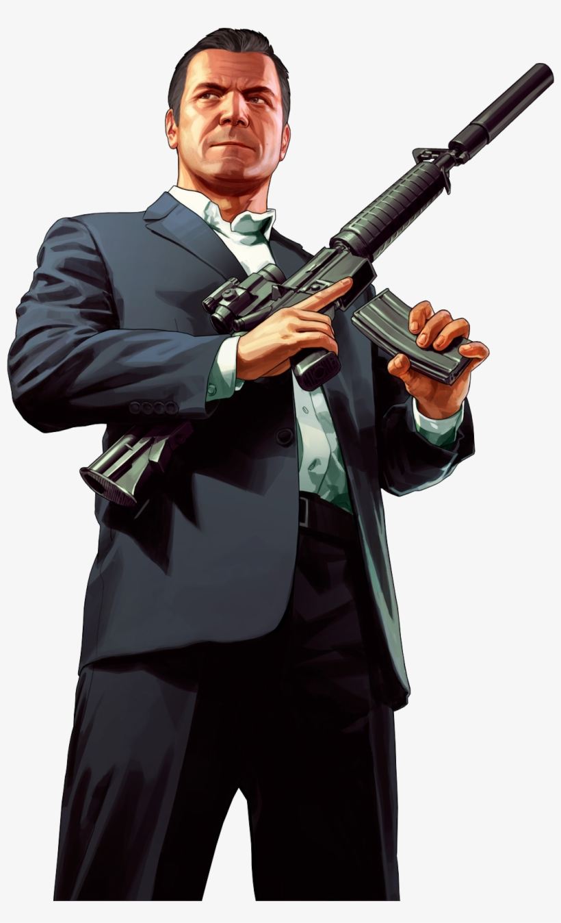 Gta 5 Michael Png Transparent PNG.