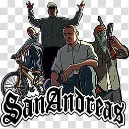GTA San Andreas Icon, GTA SanAndreas transparent background.