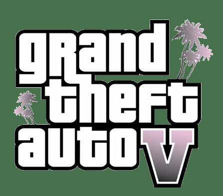 Grand Theft Auto V Logo transparent PNG.