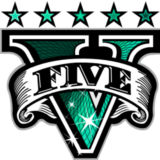 GTA V Logo Green » Emblems for GTA 5 / Grand Theft Auto V.