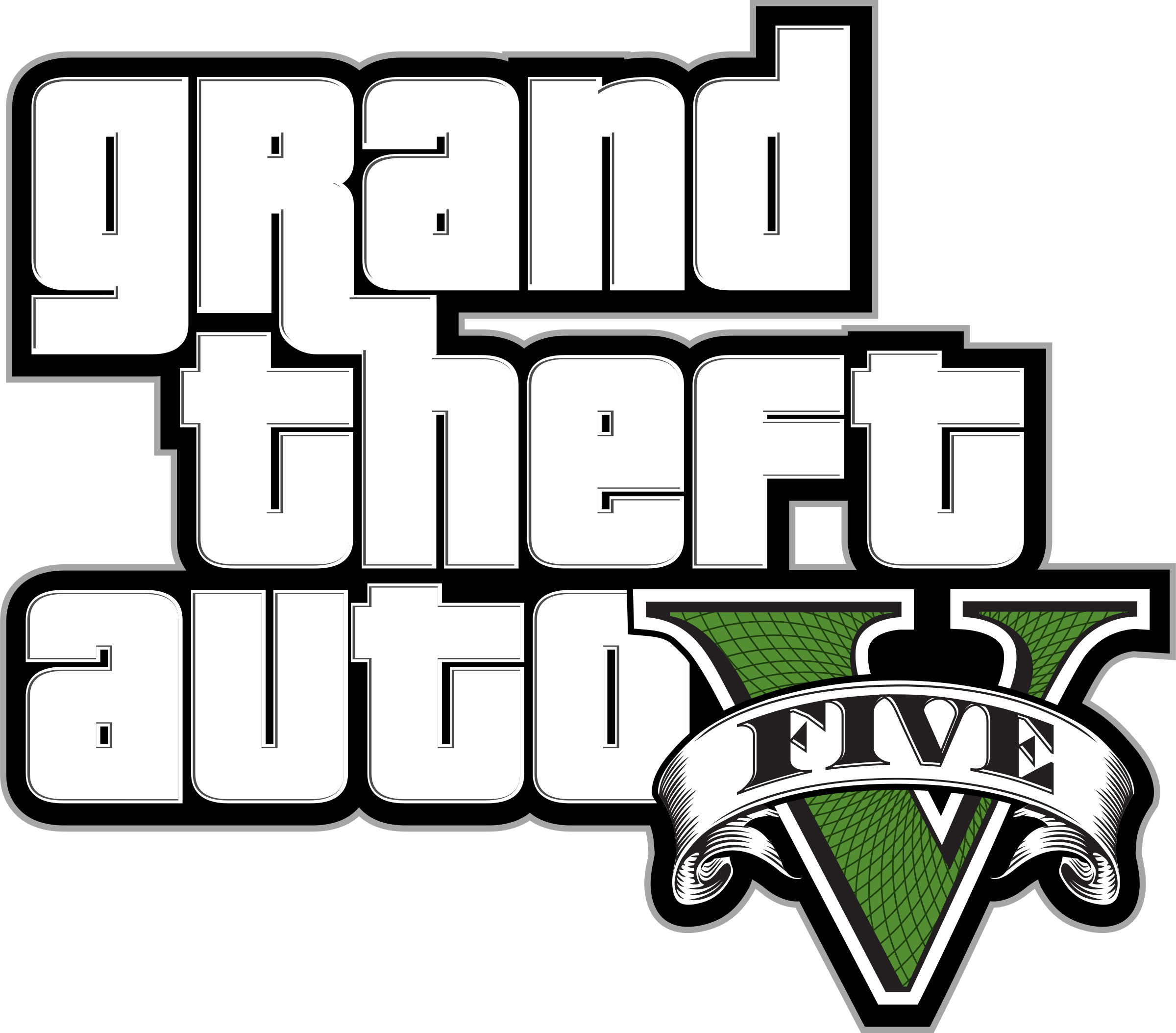 Grand Theft Auto V Logo PNG Transparent & SVG Vector.
