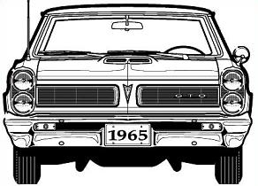 Free '65 Pontiac GTO Clipart.