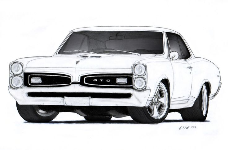1967 Pontiac GTO Drawing by Vertualissimo.deviantart.com on.