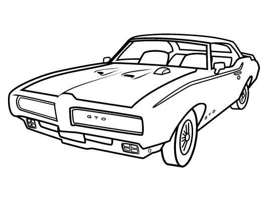 Muscle Car Coloring Pages besides 69 Gto Muscle Car in addition Gto Clipart moreover Hppp 0712 Pontiac Gto Pedal Repair as well Muscle Car Coloring Pages. on 1969 pontiac gto muscle car